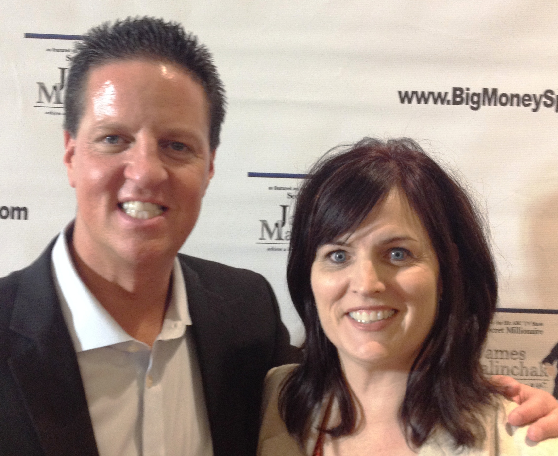 Danette Layne with James Malinchak, Speaker and star of Secret Millionaire